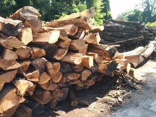Tűzifa kamiontételen